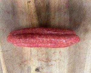 Bbq beef sausage