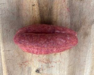 Thick beef sausage